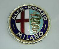 CLASSIC ALFA ROMEO GIULIETTA 101 ENAMEL LACQUERED BADGE LOGO EMBLEM 55mm.