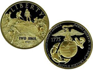 IWO JIMA WORLD WAR II COMMEMORATIVE COIN PROOF VALUE $99.95