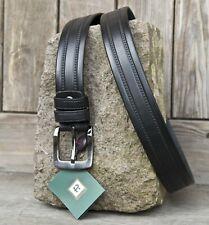Negro Cinturón de cuero para hombre de diseñador 100% por Prime Ocultar Cinturón Negro