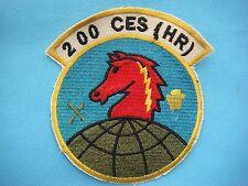 PATCH USAF 200 CES (HR) CIVIL ENGINEER SQUADRON