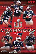 New England Patriots SUPER BOWL LI CHAMPS 2017 6-Superstars Commemorative POSTER