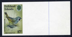 FALKLAND ISLANDS 1982 BIRDS 17P IMPERFORATE SINGLE ERROR WITH WIDE MARGIN VFUM