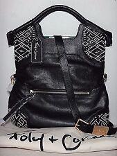 NWT Foley & Corinna Zamora Lady Leather Crossbody Tote, Black