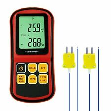 Digital Kjtersn Type Thermocouple Thermometer Dual Channels Lcd Display