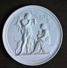 Medaillon aus Modellgips- altes Motiv-sehr schön