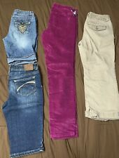 Girls Jeans Size 12-14 Mixed Lot 1 Jeans, 1 Capris, 2 Shorts