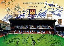 West Ham United Signed By 20 Legends FAREWELL BOLEYN 16x12 Photo AFTAL/UACC RD