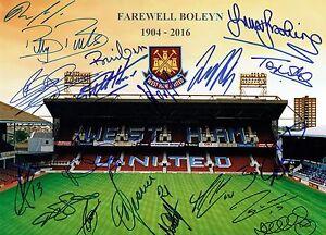 West Ham United Signed By 20 Legends FAREWELL BOLEYN 16x12 Photo AFTAL/UACC RD