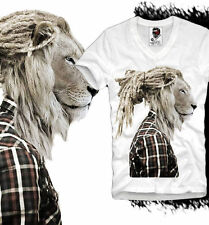 E1SYNDICATE V T SHIRT RASTAFARI LION HIPSTER DOPE WASTED YOUTH DOPE DC S/M/L/XL