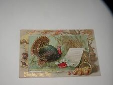 ANTIQUE POSTCARD TUCK THANKSGIVING POSTCARD turkey Thanksgiving proclamation