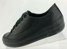 FitFlop FF Supertone Walking Shoes Black Leather Lace Up Comfort Womens Size 6