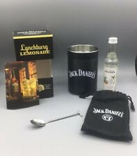 Jack Daniels Lynchburg Lemonade Cocktail Set Glas Geschenk Dose Löffel Beutel