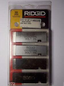 "RIDGID 48220 5/16""-18 UNC BOLT THREADING DIES RH HIGH SPEED FOR UNIVERSAL HEAD"