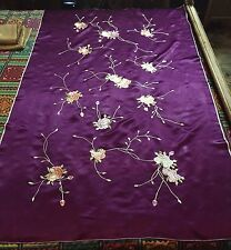 Antique Chinese Hand Embroidery Scenery,Banner,Wall Hanging On Silk