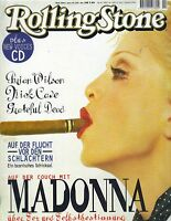 MADONNA GERMAN Rolling Stone Magazine 2/96 BRIAN WILSON NICK CAVE NO CD PC