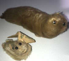 Vintage Arctic Native Fur Seal Doll Figures - Adult and Baby - Souvenir