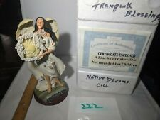"""CollectibleFigurine , Native American, """" Tranquil Blessing"""" Bradford Exchange"""