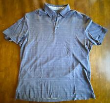 Ermenegildo Zegna Men's Polo Shirt Size XL 54 Short Sleeve Blue Cotton/Silk