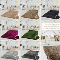 Hochflor Shaggy Shabby Teppich Langflor weicher-Flor Farben Polyester Wohnzimmer