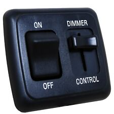 LED Dimmer Switch 12 volt on-off Light RV Motor Home Camper Travel Trailer Black