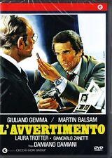 L'AVVERTIMENTO (1980 di Damiano Damiani) Giuliano Gemma - DVD NUOVO