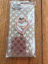 iPhone 6/6S Diamond and rose gold love heart mirror Case Ships N 24h