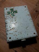 Rare Boite metallique ancienne à pharmacie premiers secours trousse SOS