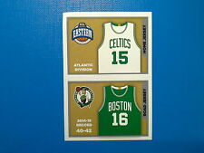 2015-16 Panini NBA Sticker Collection n. 14-15 Jersey Celtics