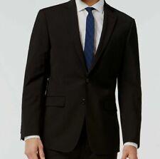 $665 Calvin Klein Men Extreme Slim X Fit Wool Sport Coat Black Jacket Blazer 46R