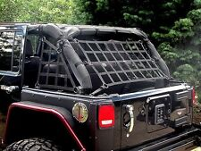 JEEP WRANGLER UNLIMITED JK 2007-2018 4 Door Cargo Net Full 3 Piece Set!