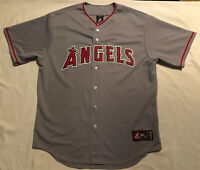 Rare Authentic Anaheim Los Angeles Angels Road Jersey Made In USA! Size XL Gray