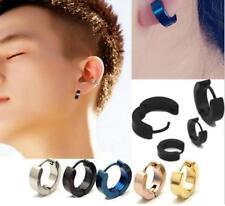 PAIR of Women Men's Punk Style Stainless Steel Huggie Hoop Earrings Jewellery