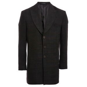 QUIZMAN Black and Grey Checked Long Coat size L RRP£100