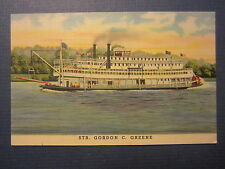 Old Vintage 1940's Steamer GORDON C. GREENE - Steamship POSTCARD - Cincinnati OH