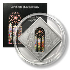 Palau St. Patrick's Cathedral $10 2011 Sacred Art Holy Windows Proof Silver Coin