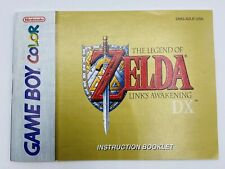 Zelda: Link's Awakening DX Instruction Booklet Manual Nintendo Gameboy Color GBC