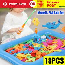 18pcs Baby Kids Magnetic Fish Bath Toy Child Game Rod Fishing Toddler Toys