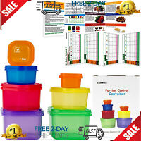 21 Day Portion Control Diet Container 7 P Kit Fix Weight Loss Food Plane Storage