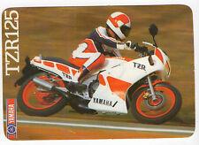 1988 Portugese Pocket Calendar Yamaha TZR125 Motorcycle Motorbike bike