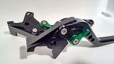 Kawasaki ZX7-R Adjustable Black Levers Green Adjusters (Shorty)