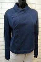 Giacca in Jeans Donna Adidas Taglia 44 M Slim Blazer Blu Jacket Woman Giubbino