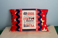 NEW HANDMADE CROSS STITCH PILLOW PINE MT DESIGNS PATRIOTIC FLAG LIBERTY FREEDOM