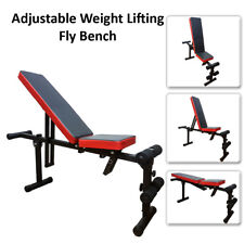 Weight Training Bench Fly Flat Incline Adjustable Folding Chest and Leg Exercise