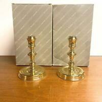 "Vintage Baldwin Brass Burgess Candlesticks American Museum Collection 6"" Pair"