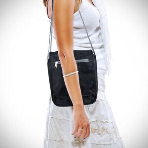 Triplogic Slim Travel Luggage CrossBody Day Bag Black ^x