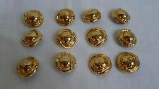 More details for authentic chloe gold colour metal buttons - 12 items, excellent condition