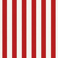 Bambino XVIII Narrow Stripe Wallpaper Red / White Rasch 246032