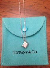 Tiffany & Co. Frank Gehry Sterling Silver Torque Cube Necklace *RARE*