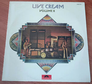 CREAM Live Cream Volume II LP ORIGINAL FRANCE 1972 Eric Clapton