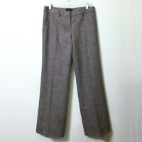Wool Tweed Pants Brown 6 Women's The Limited Cassidy Fit Wide Leg